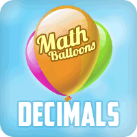 Play Math Balloons Decimals