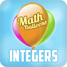 Play Math Balloons Integers