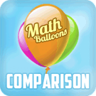 Play Math Balloons Comparison