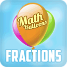 Play Math Balloons Fraction Ar…